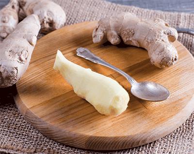 peeled ginger