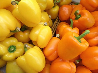 yellow and orange bell pepper